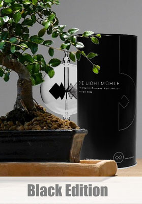 Die Lichtmühle Black Edition_Lichtmühlen_Lightmill_Radiometer_CipinGlas_Glasbläser_Solarradiometer_Andree_Cipin