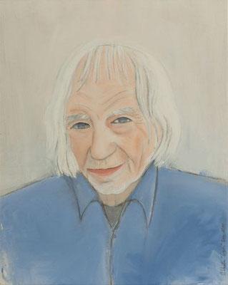 Chantal Coutu, Egon Rieble, Akryl und Stift auf Nessel, Dez. 2014, 40x50cm (private Sammlung)