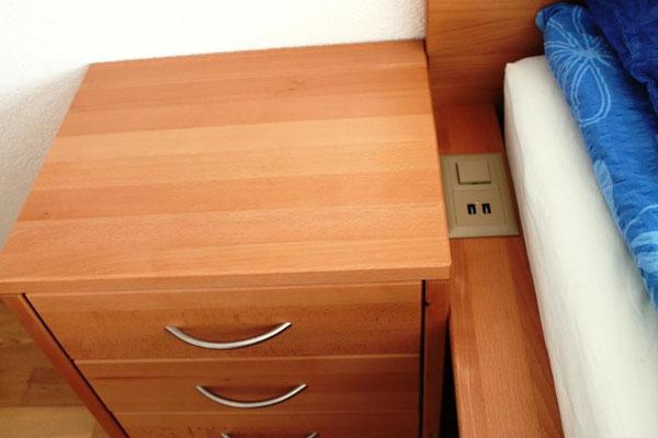 inkl. Lichtschalter und USB Anschluss