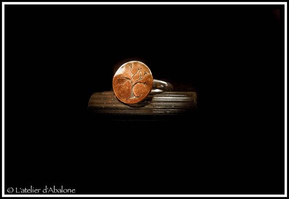 1.Bague Arbre, Argent 925, Cuivre pur, 47 euros
