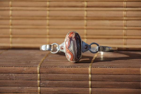 3.Bracelet Agate crasy lace, Argent 925, 67 euros