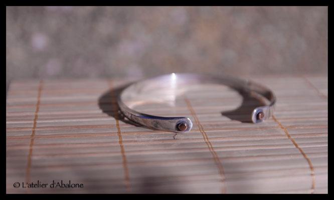 3.Bracelet trait fin, Argent massif, 59 euros