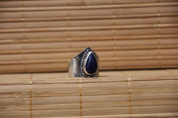 98.Bague Lapis Lazuli goutte couronne, Argent 925,69 euros