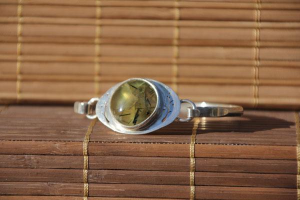 5.Bracelet Prehnite tourmaline, Argent 925, 72 euros