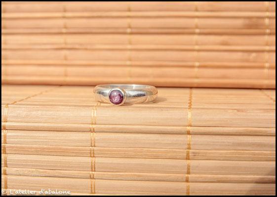 123.Bague Rubis étoilé anneau, Argent 925, 50 euros