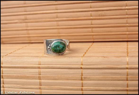 137.Bague Turquoise, Argent 925, 58 euros