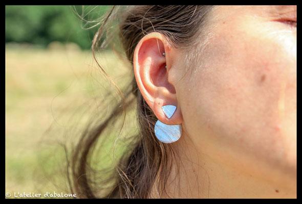 87.Boucle d'oreille ear jacket, Argent massif, 43 euros.