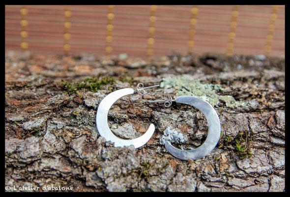 74.Boucle d'oreille créole limé , Argent 925, 37  euros
