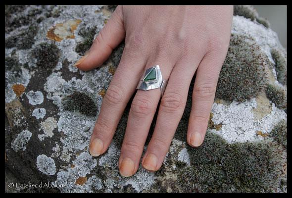 39.Bague Jade nephrite (N. Zélande), Argent 925, 64 euros
