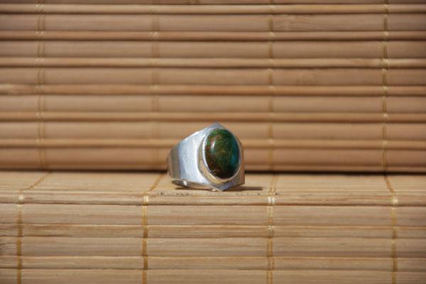 78.Bague Turquoise ovale, Argent 925, 64 euros