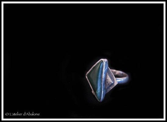 40.Bague Jade nephrite (N. Zélande), Argent 925, 57 euros