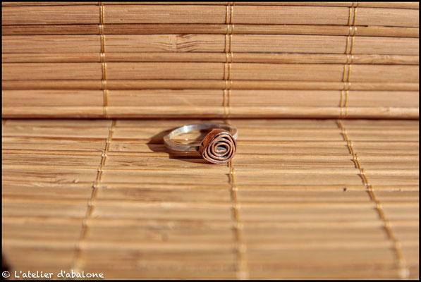 15. Bague rose cuivre, Argent 925, Cuivre pur, 40 euros