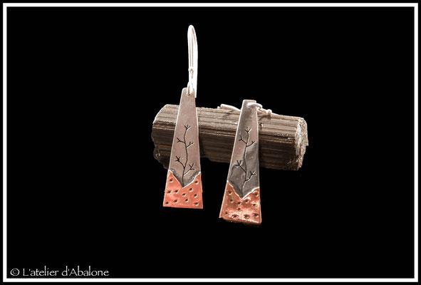 5.Boucle d'oreille AR arbre bas CU étoile, Argent 925, 39 euros