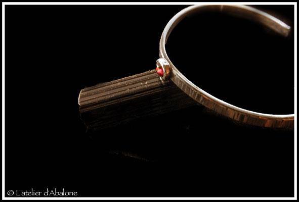 2.Bracelet Grenat ovale, Argent 925, 54 euros