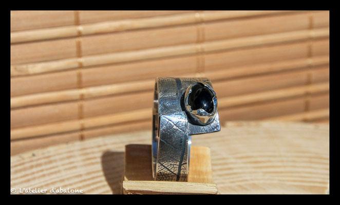 160. Bague Onix superpose , Argent massif, 63 euros