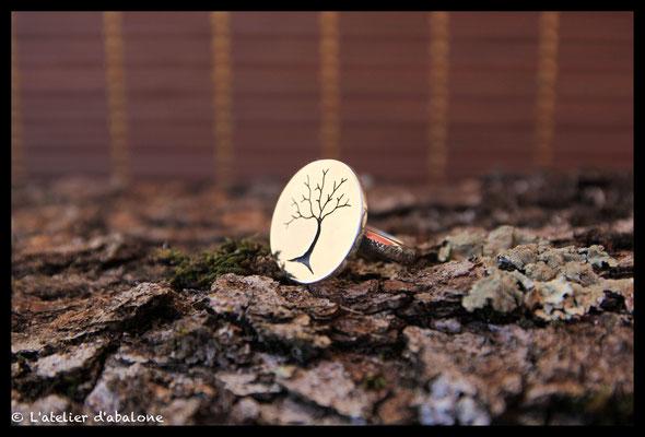 7.Bague rond arbre, Argent 925, 59 euros.