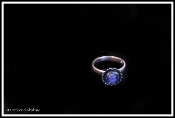 38.Bague Indian star sapphir, Argent 925, 43 euros