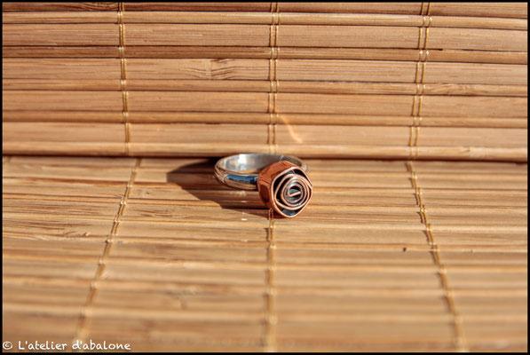 16. Bague rose cuivre, Argent 925, Cuivre pur, 44 euros