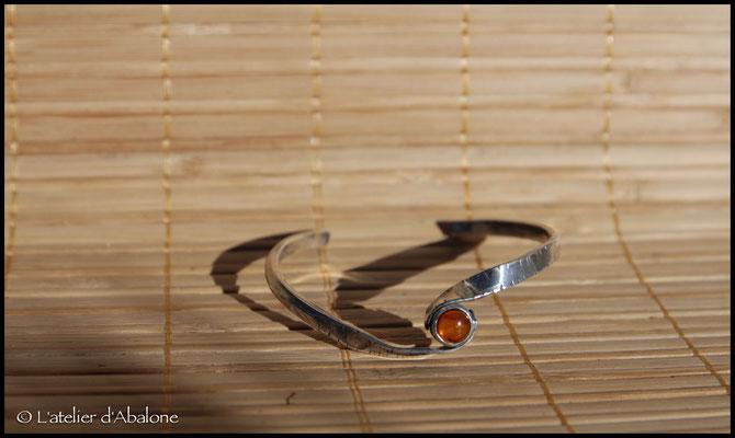 1.Bracelet Ambre twist, Argent 925, 57 euros