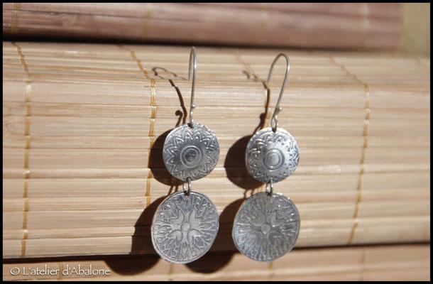 28.Boucle d'oreille pièces, Argent 925, 56 euros