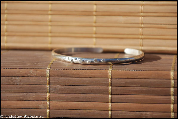 1. Bracelet boules de cuivre et argent, Argent massif, 56 euros