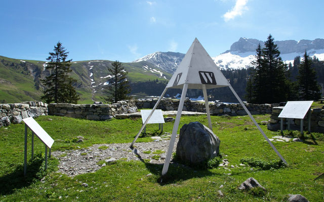 Älggialp - der geografische Mittelpunkt der Schweiz