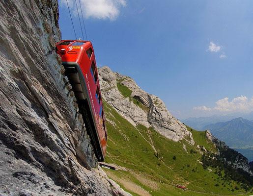 Pilatusbahn - die steilste Zahnradbahn der Welt