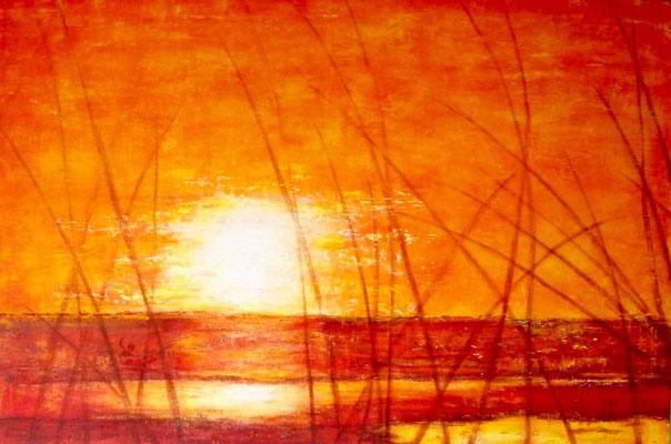 'Le nageur', Acryl auf Leinwand, 80 x 120 cm