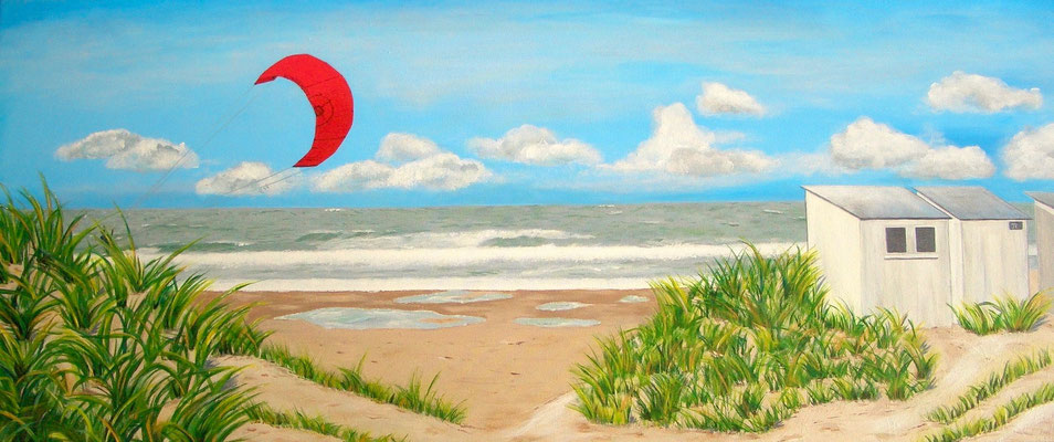 'La mer du nord', Acryl auf Leinwand, 60 x 140 cm