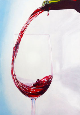 'Le vin rouge', Acryl auf Leinwand, 70 x 50 cm