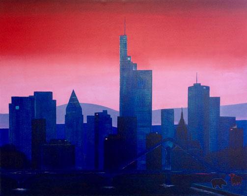 'Red Sky', Acryl auf Leinwand, 80 x 100 cm