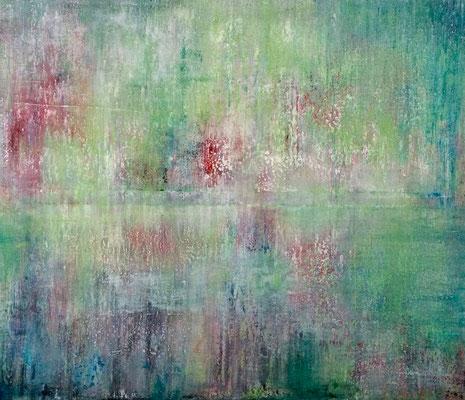 'Untitled2', Mischtechnik auf Leinwand 120 x 140cm