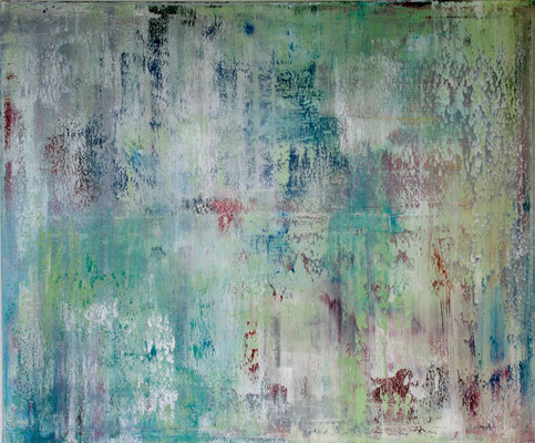 'Untitled 1', Lack auf Leinwand 100 x 120cm