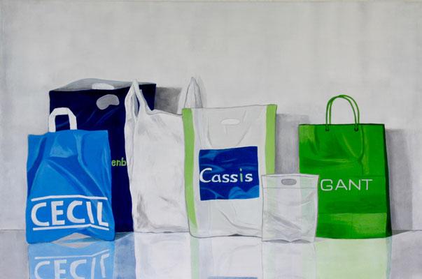'Cassis', Acryl auf Leinwand,