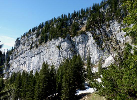 Die felsige Seite des Spitzstein - Ostwand