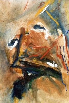 Sans titre - 32 x 48 - Gouache sur papier - 1986