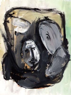 Sans titre - 24 x 32 - Acrylique sur papier - 2001
