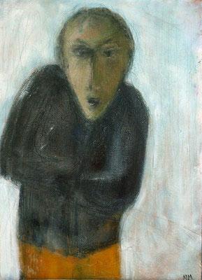 Réfugié - 33 x 46 - Acrylique sur toile - 2005