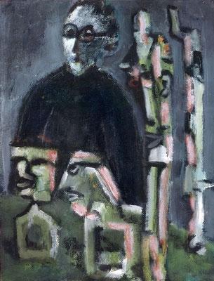 Le trophée - 50 x 65 - Acrylique sur toile - 2001