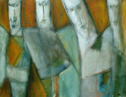 Réfugiés - 65 x 50 - Acrylique sur toile - 2005