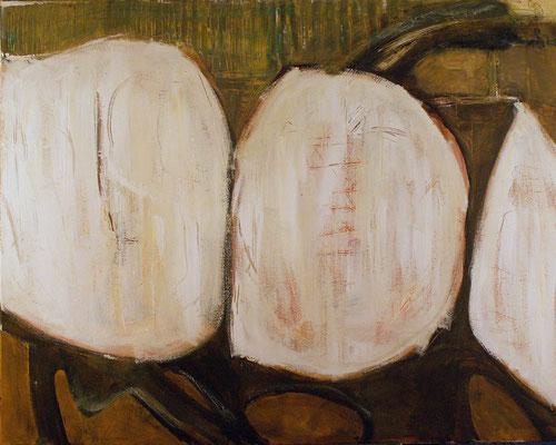 Made in China - Le ver est dans le fruit - 100 x 80 - Acrylique sur toile - 2006
