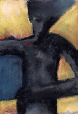 Retour du puit - 38 x 55 - Acrylique sur toile - 1996