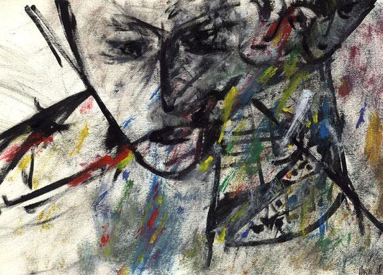 Sans titre - 42 x 30 - Acrylique sur papier - 1988
