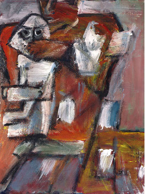 Sud-Nord - 46 x 60 - Acrylique sur toile - 2001