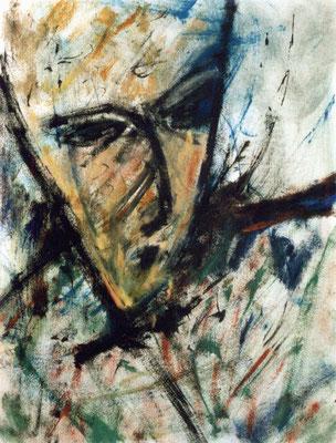 Sans titre - 65 x 50 - Acrylique sur papier - 1988
