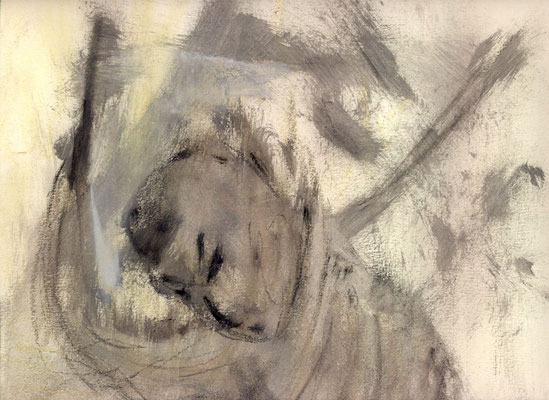 A la baguette - 32 x 24 - Gouache sur papier - 1987