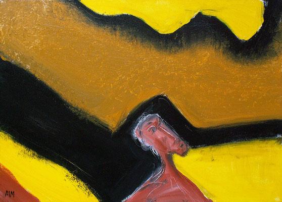 Réfugié - Ulysse - 46 x 33 - Acrylique sur toile - 2005