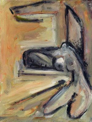 Echec et mat - 46 x 61 - Acrylique sur toile - 2001