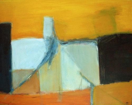 Bab El Ji - Le derviche de Damas - 100 x 80 - Acrylique sur toile - 2005