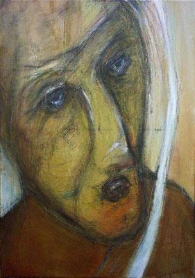 Mamma Francia - 38 x 55 - Huile sur toile - 2003
